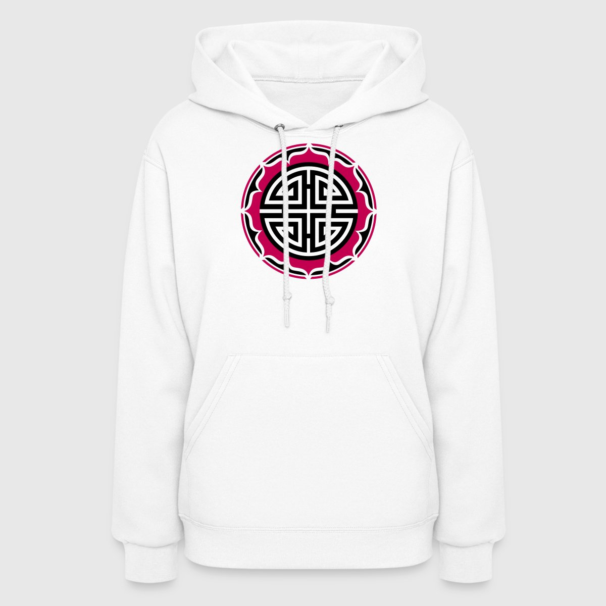 Four blessings chinese good luck symbol charms hoodie spreadshirt buycottarizona Images