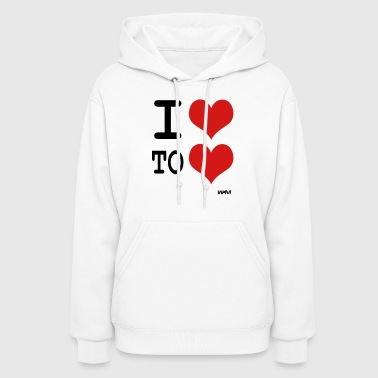 i love to love by wam - Women's Hoodie