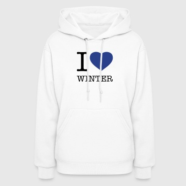 I LOVE WINTER - Women's Hoodie