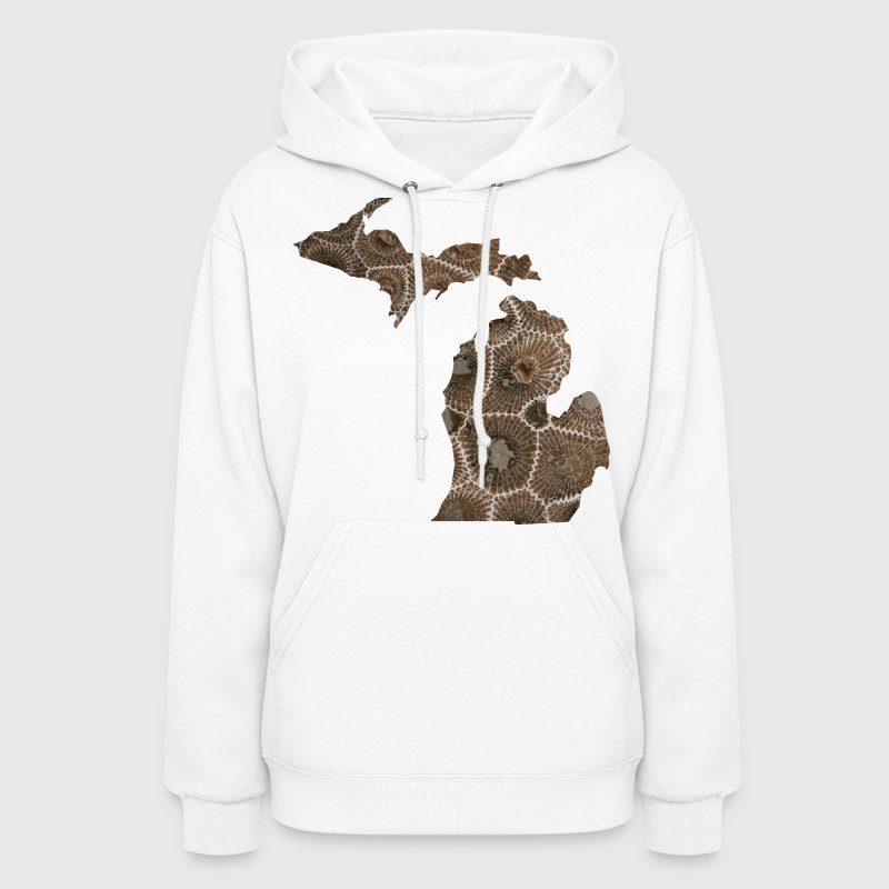 Michigan Petoskey Stone Cute Funny Pure Apparel  - Women's Hoodie