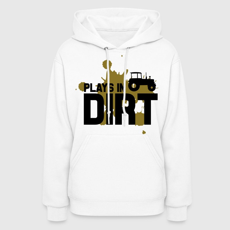 Plays in dirt - Women's Hoodie