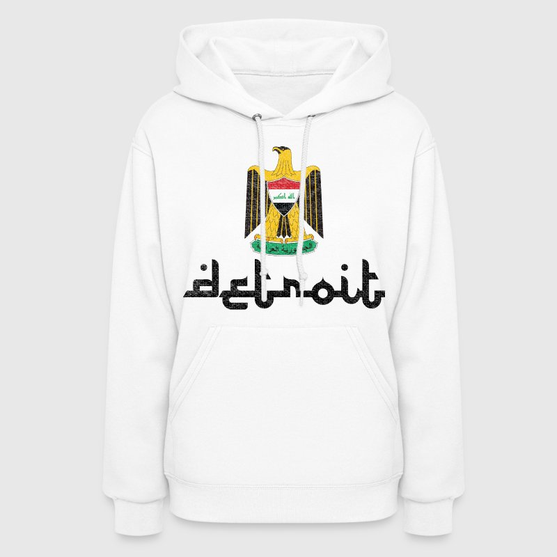 Detroit Iraq Iraqi Shield Coat of Arms T-Shirts  - Women's Hoodie