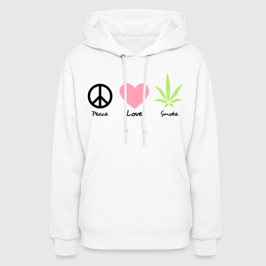 peace love and marijuana - Women's Hoodie