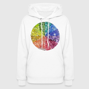 color wheel doodle - Women's Hoodie