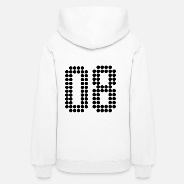 Jersey Number 08, Numbers, Football Numbers, Jersey Numbers - Women's Hoodie
