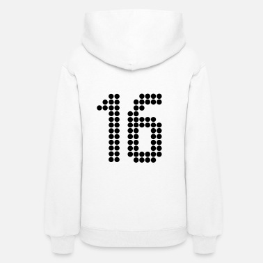 Jersey Number 16, Numbers, Football Numbers, Jersey Numbers - Women's Hoodie