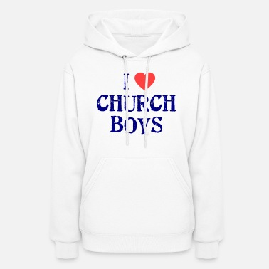 Church I love Church boys - Women's Hoodie