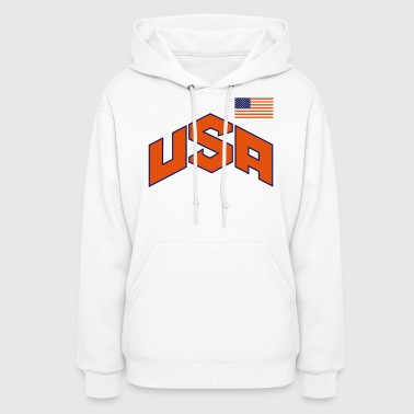 USA OLYMPIC SIGN & FLAG - Women's Hoodie