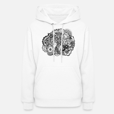 Ink Black and white pen and ink doodle - Women's Hoodie
