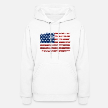 Usa Flag USA Flag - Vintage Look - Women's Hoodie