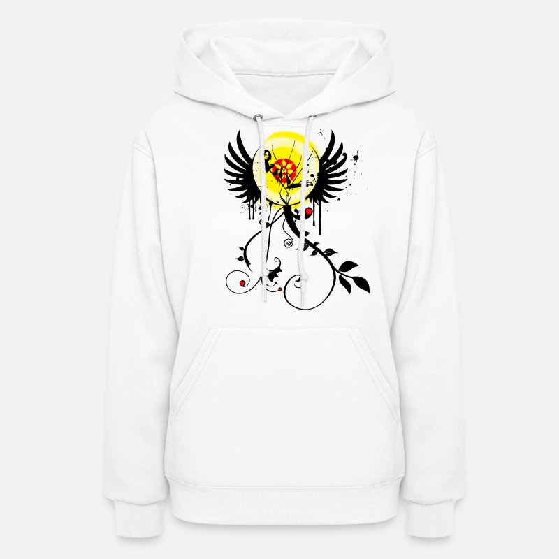 Paint Splatter Hoodies & Sweatshirts - Graffiti Flower Girl - Paint Splatter Graphic Design - Women's Hoodie white