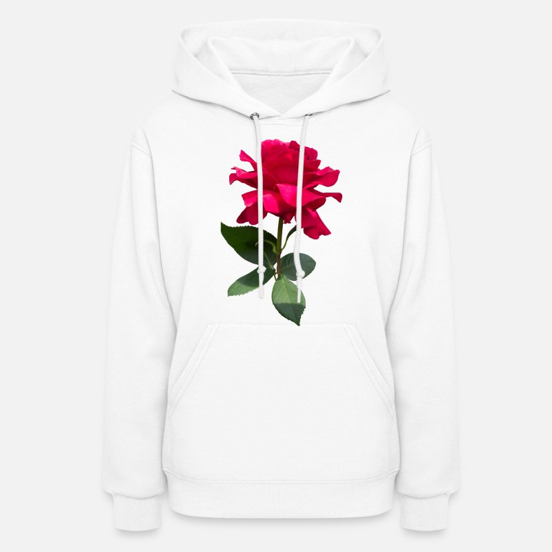 Red Rose Hoodies & Sweatshirts - Red rose - Women's Hoodie white