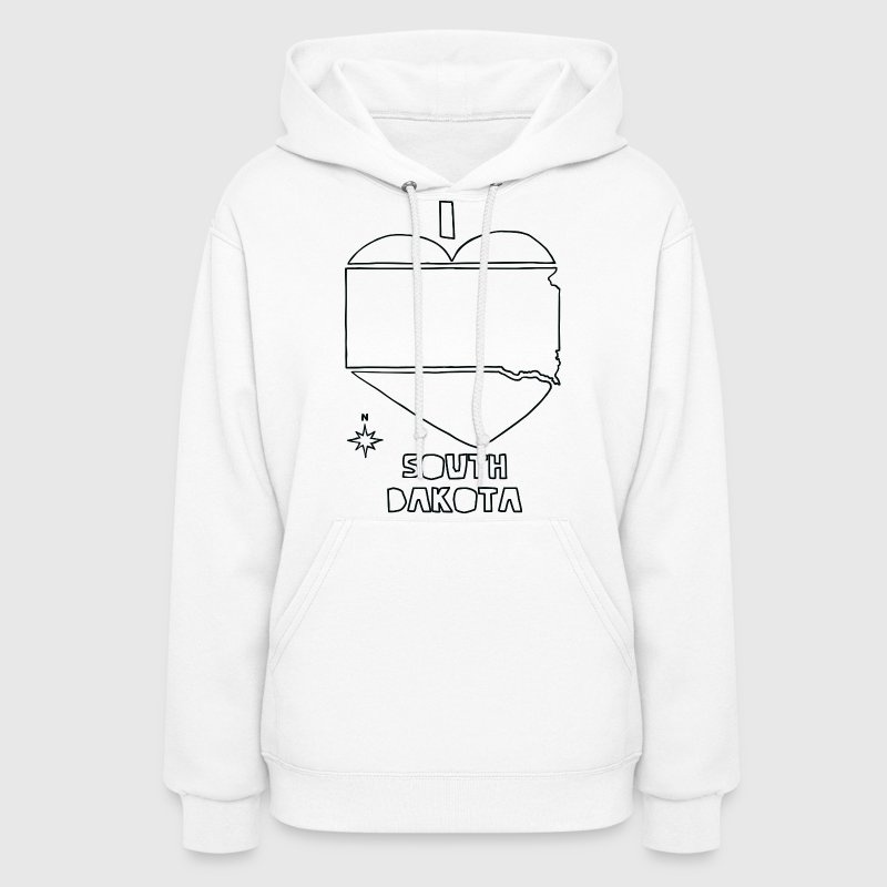 i heart South Dakota (white) - Women's Hoodie
