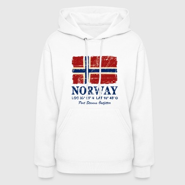 Norway Flag - Vintage Look - Women's Hoodie