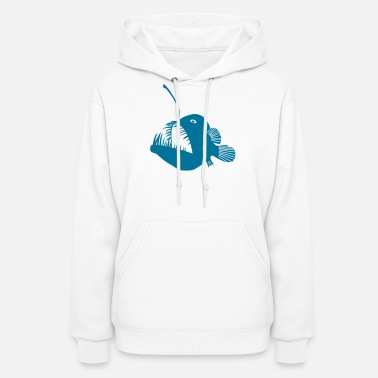 Frogfish anglerfish frogfish sea devil deep sea angler monkfish fishing fisherman monster - Women's Hoodie