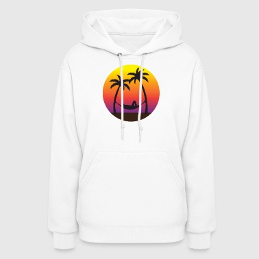 Beach Hammock Sunset Vacation  - Women's Hoodie