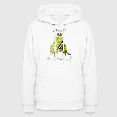 wordtease collage Where Is PRINCE CHARMING? frog - Women's Hoodie