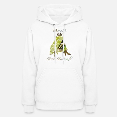 Toad wordtease collage Where Is PRINCE CHARMING? frog - Women's Hoodie