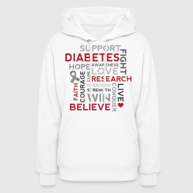 Diabetes Support (Word Cloud) - Women's Hoodie
