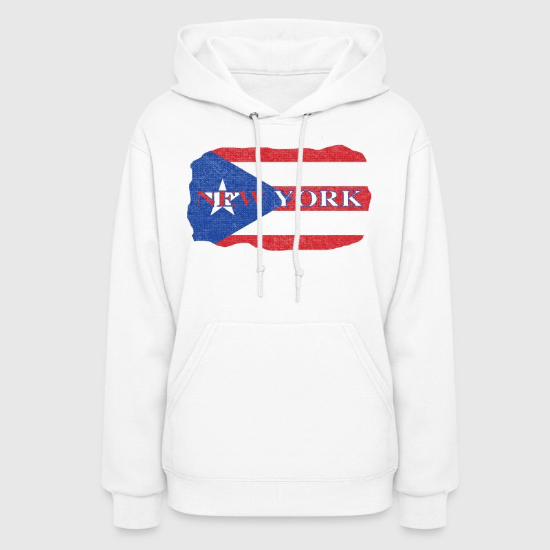 New York Puerto Rico Rican Flag - Women's Hoodie
