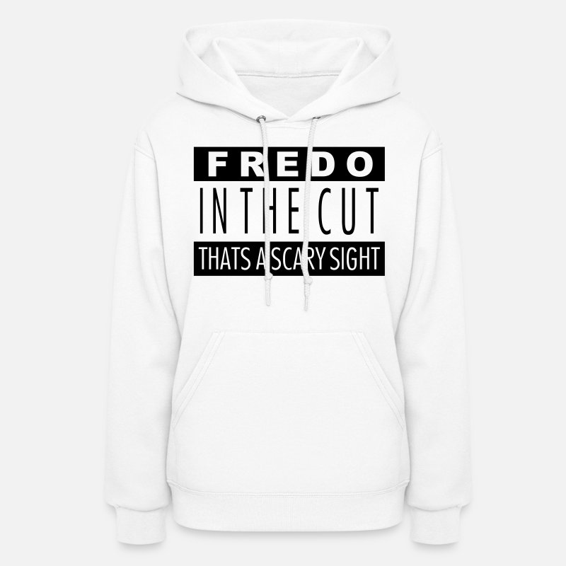 Swag Hoodies & Sweatshirts - FREDO IN THE CUT - Women's Hoodie white