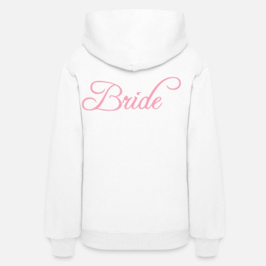 Bride And Groom Bride Text Word Graphic Design Picture Vector - Women's Hoodie