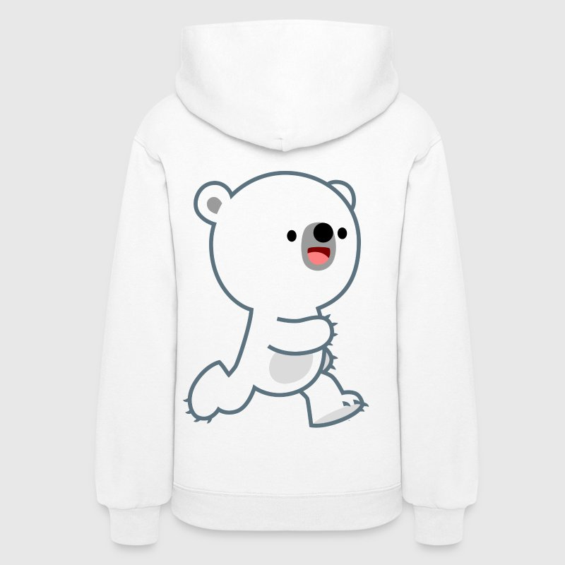 Cute Perky Polar Bear Cub by Cheerful Madness!! - Women's Hoodie