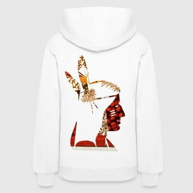 artTS collage art NATIVE AMERICAN INDIAN - Women's Hoodie