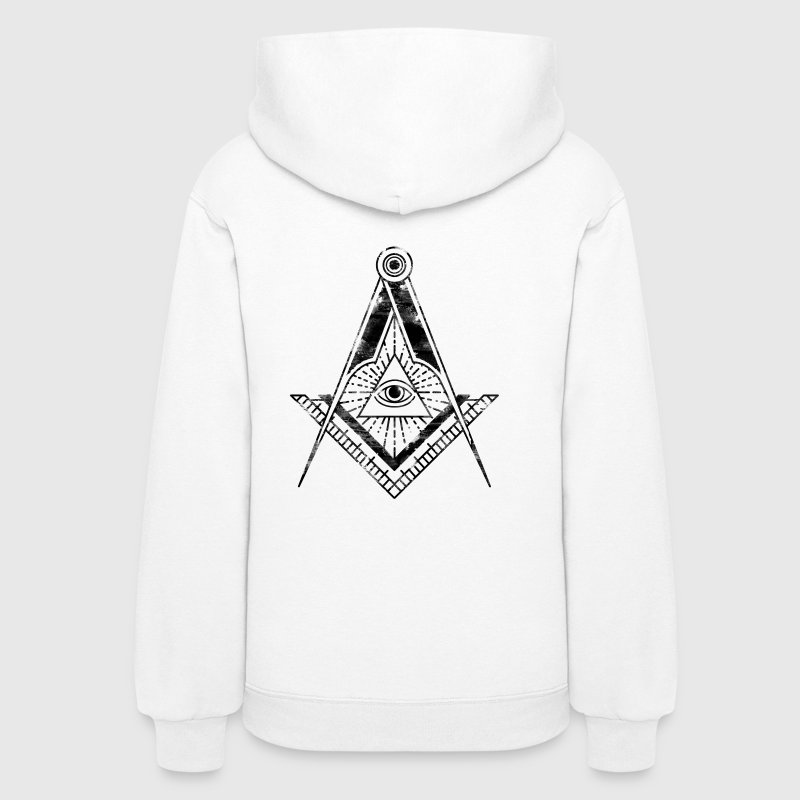 All Seeing Eye (Faded Black) - Women's Hoodie