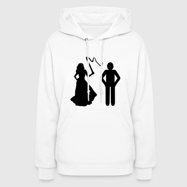 Marriage, Bride with whip & Groom - Women's Hoodie