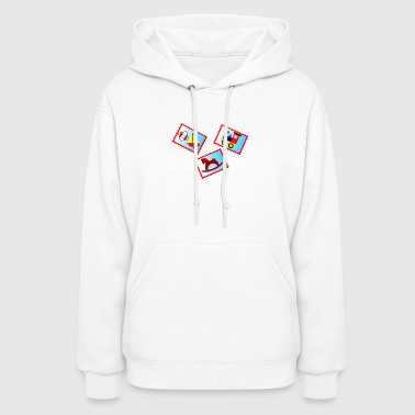 stamps with toys - Women's Hoodie