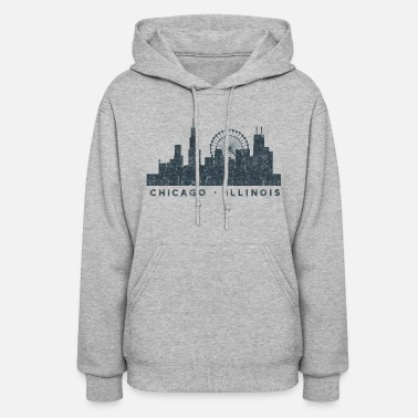 Illinois Chicago Illinois Skyline Architecture Souvenir - Women's Hoodie