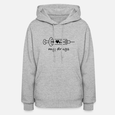 Provoke My Drugs Travel / addicted, bugs, provokative, - Women's Hoodie