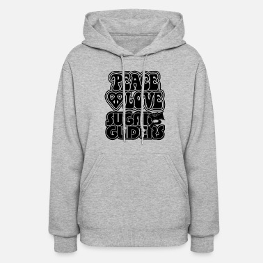 Glider Peace Love Sugar Glider Shirt - Women's Hoodie