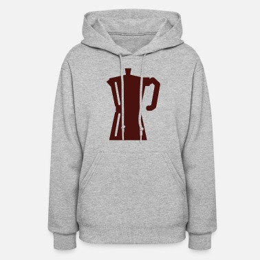 Espresso coffee cup beans cafe mug pot kaffee bohnen181 - Women's Hoodie