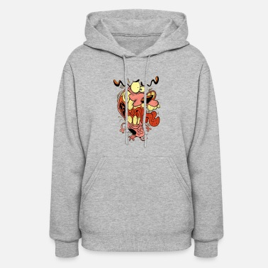 Scared Courage Dog Scared - Women's Hoodie