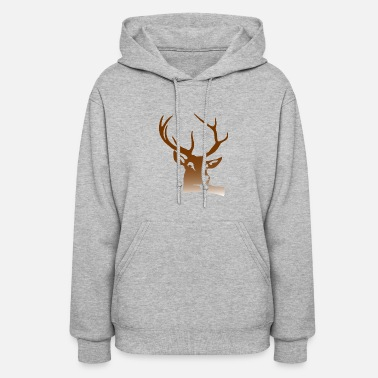 Deer Head Head And Antlers Of A Deer - Women's Hoodie
