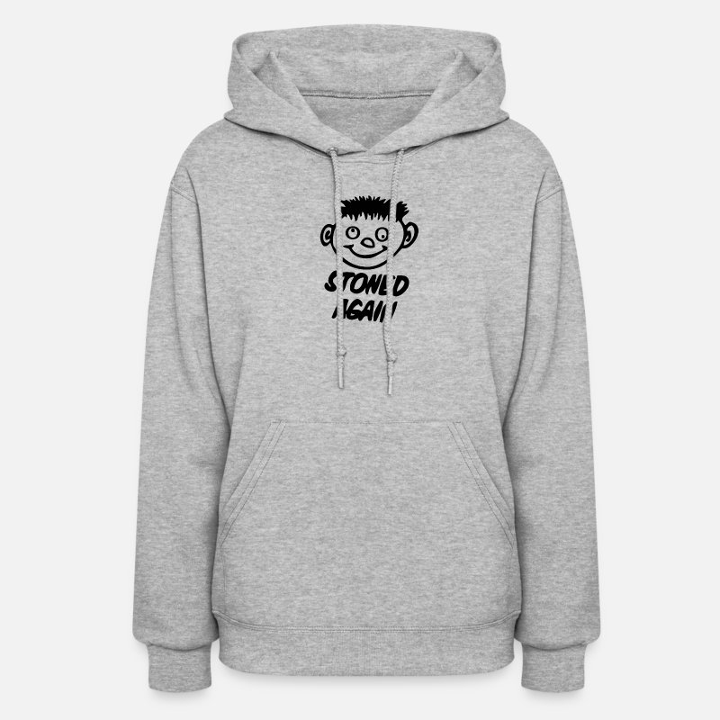 Weed Hoodies & Sweatshirts - Stoned Weed - Women's Hoodie heather gray