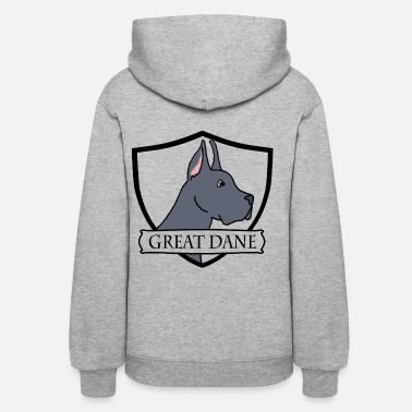 Pure-bred Great Dane - Cropped Blue - Women's Hoodie