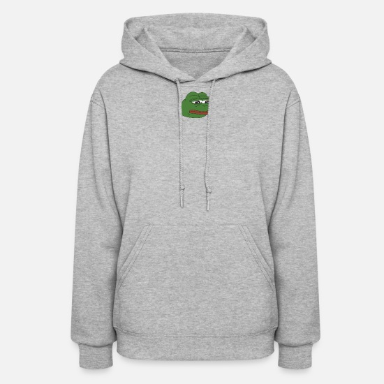 Meme Hoodies & Sweatshirts - Pepe Meme - Women's Hoodie heather gray