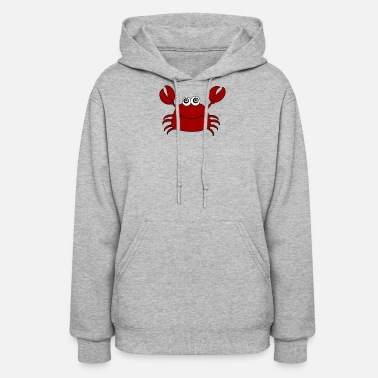 Crab Funny Cute Red Crab - Women's Hoodie