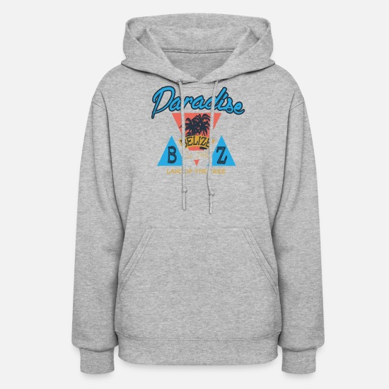 Belize Hoodies & Sweatshirts - Paradise Belize - Women's Hoodie heather gray