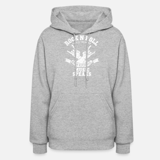 Rock Hoodies & Sweatshirts - Rock n´ roll gift music therapy - Women's Hoodie heather gray