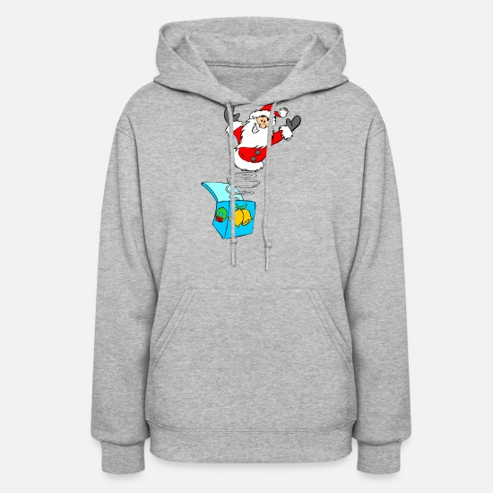 Ugly Christmas Hoodies & Sweatshirts - christmas elves grinch funny christmas ugly christ - Women's Hoodie heather gray