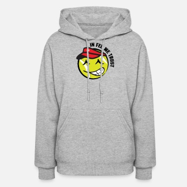 Roger In_Fed_We_Trust_Swiss_Tennis Ball_Graphic_Smiley - Women's Hoodie