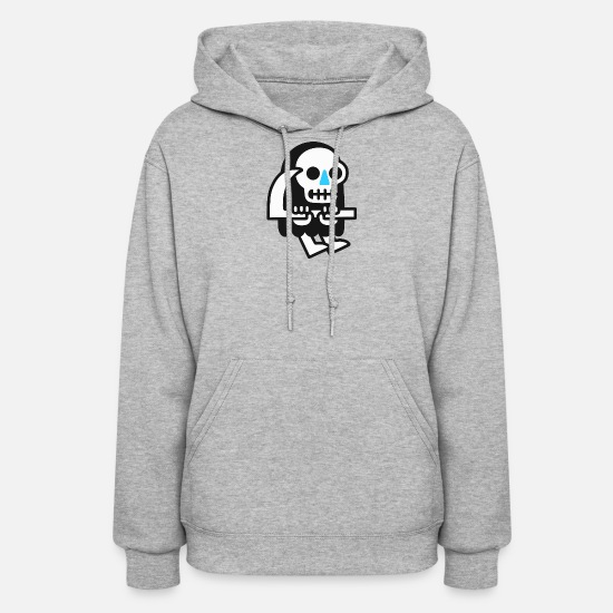Guys Night Out Hoodies & Sweatshirts - Amazing Grim Reaper Guy Cartoon Illustrator - Women's Hoodie heather gray
