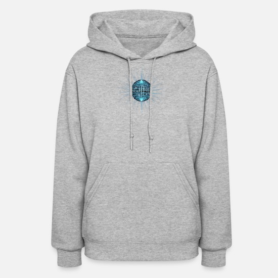 Image Hoodies & Sweatshirts - Effects abstract vector energy sphere circle cool - Women's Hoodie heather gray