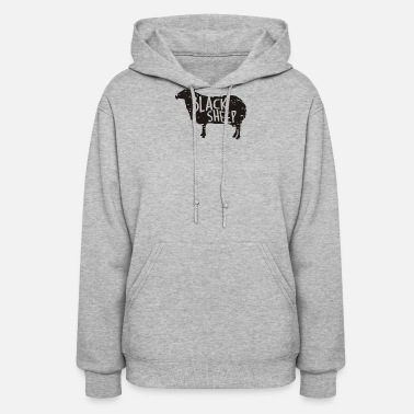 Sheep Black Sheep Silhouette - Women's Hoodie