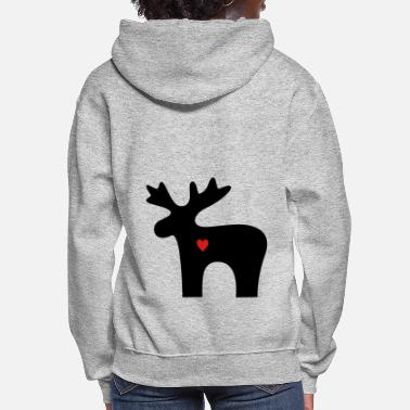 Womens Long Hoodie Comic Silhouette Womens Pullover Sweater Coat