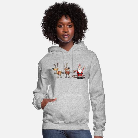 Christmas Hoodies & Sweatshirts - Happy Christmas Cartoon - Women's Hoodie heather gray